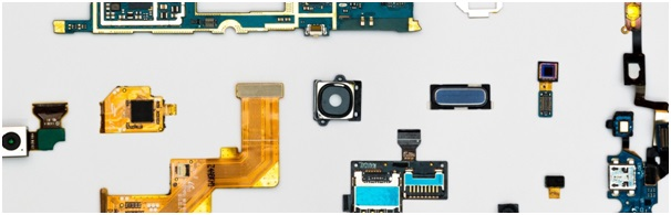 Disassembled smartphone, illustrating our section-by-section breakdown of the cover letter writing process