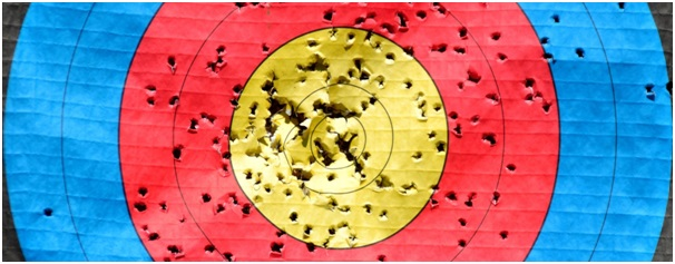 Target with many holes illustrating the PST practice process